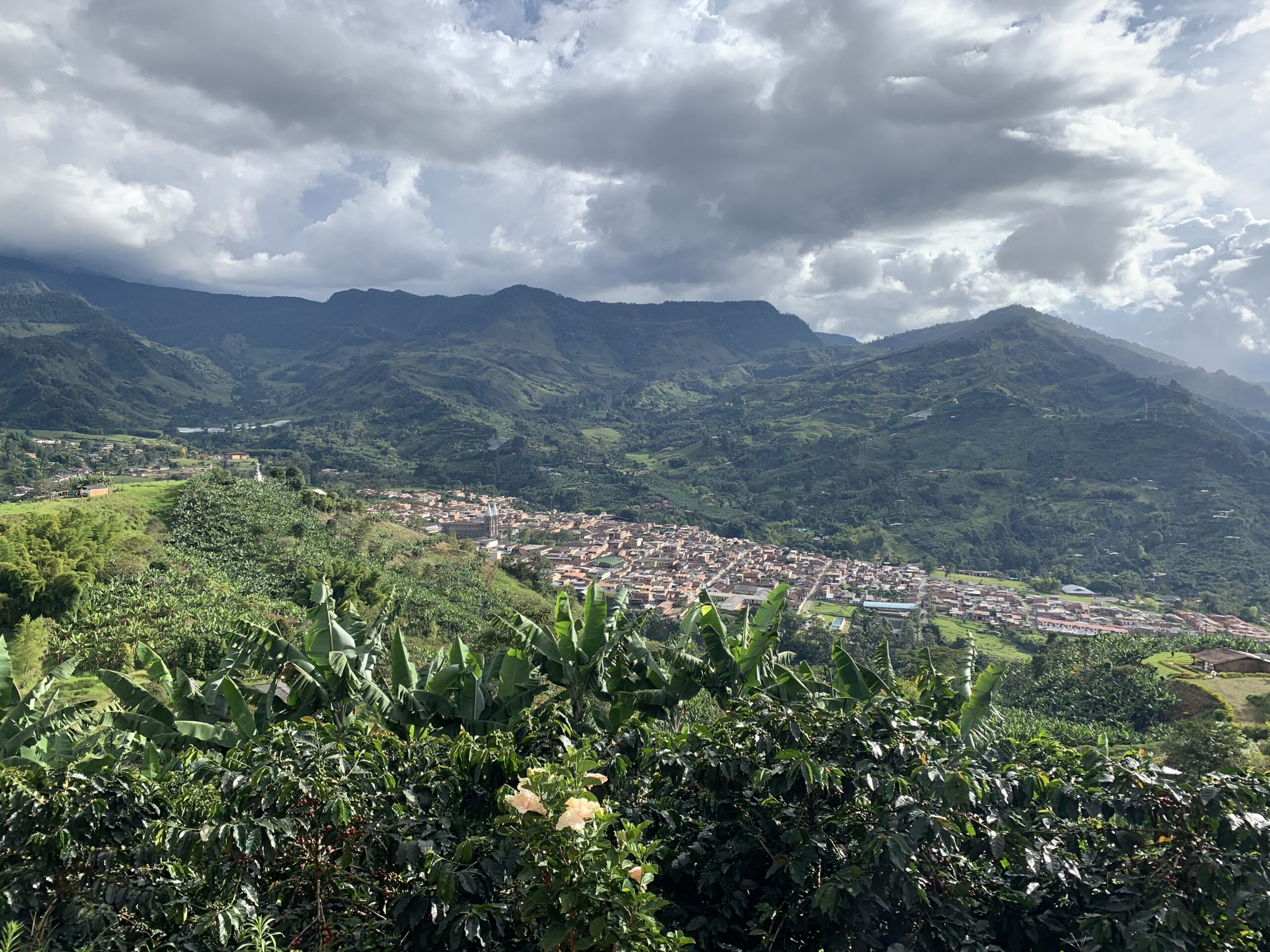 The town of Jardin Antioquia, Colombia from the Cristo Rey