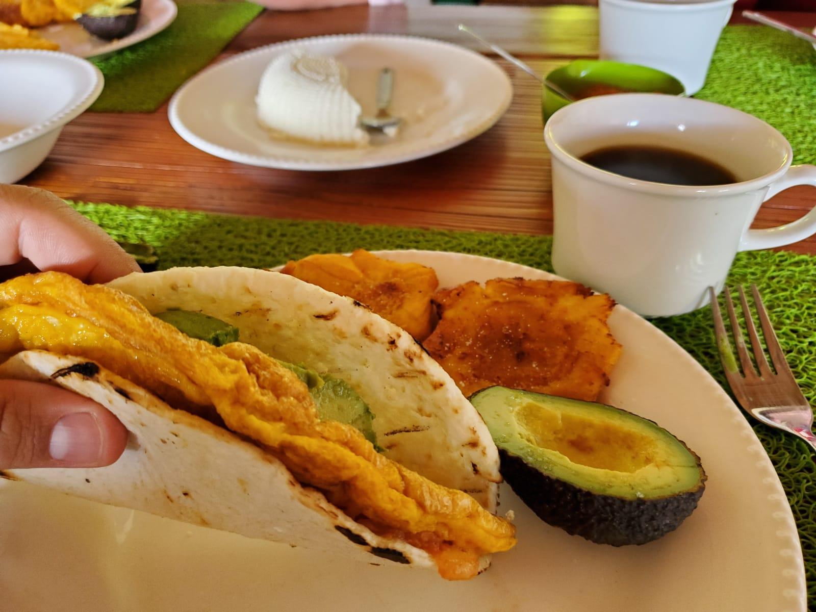 Breakfast at Finca Mariposa