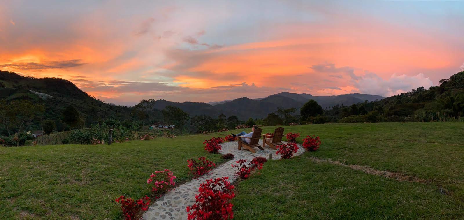 Sunset view at Finca Mariposa