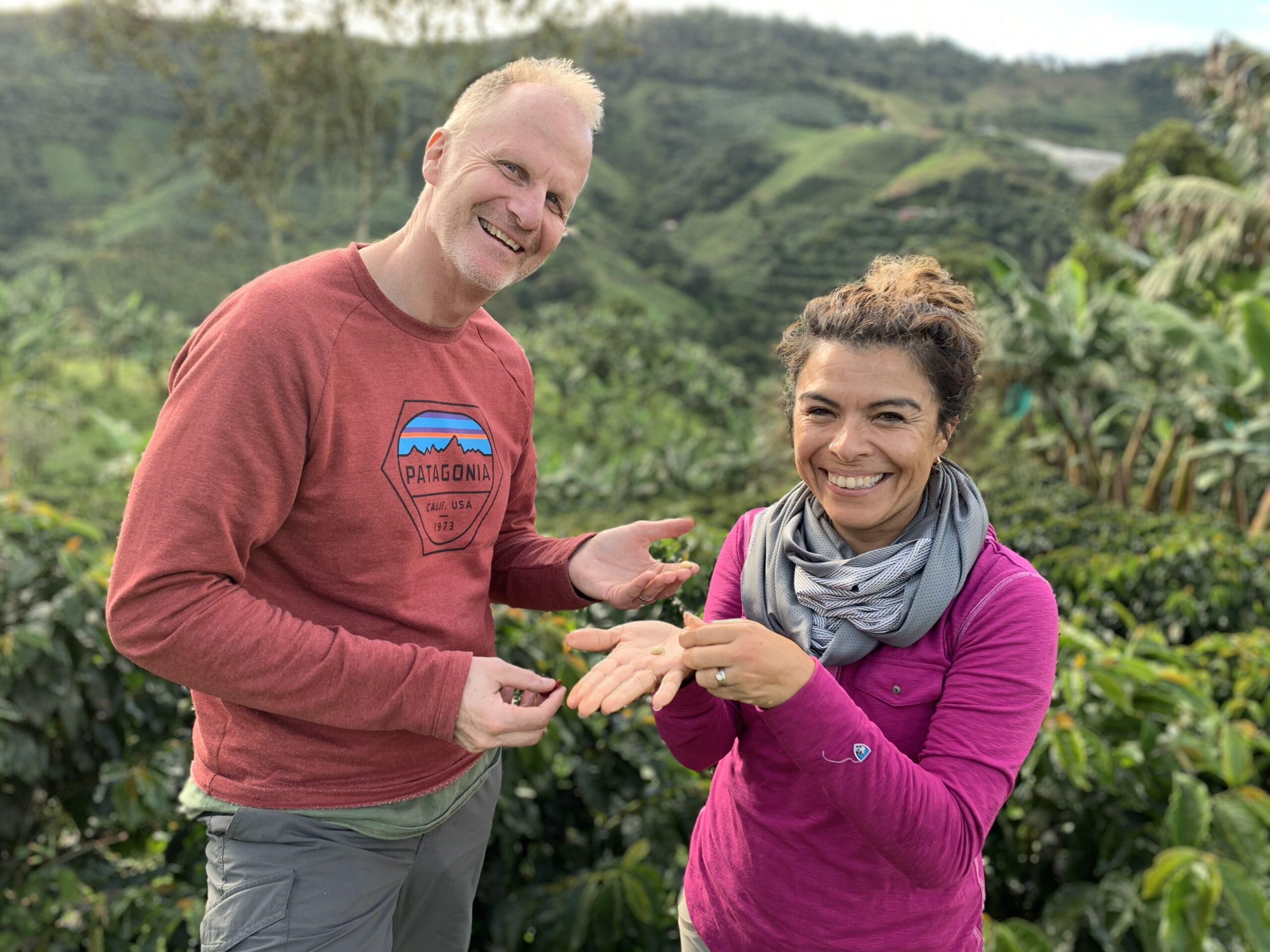 Owners of Finca Mariposa in Jardin, Colombia