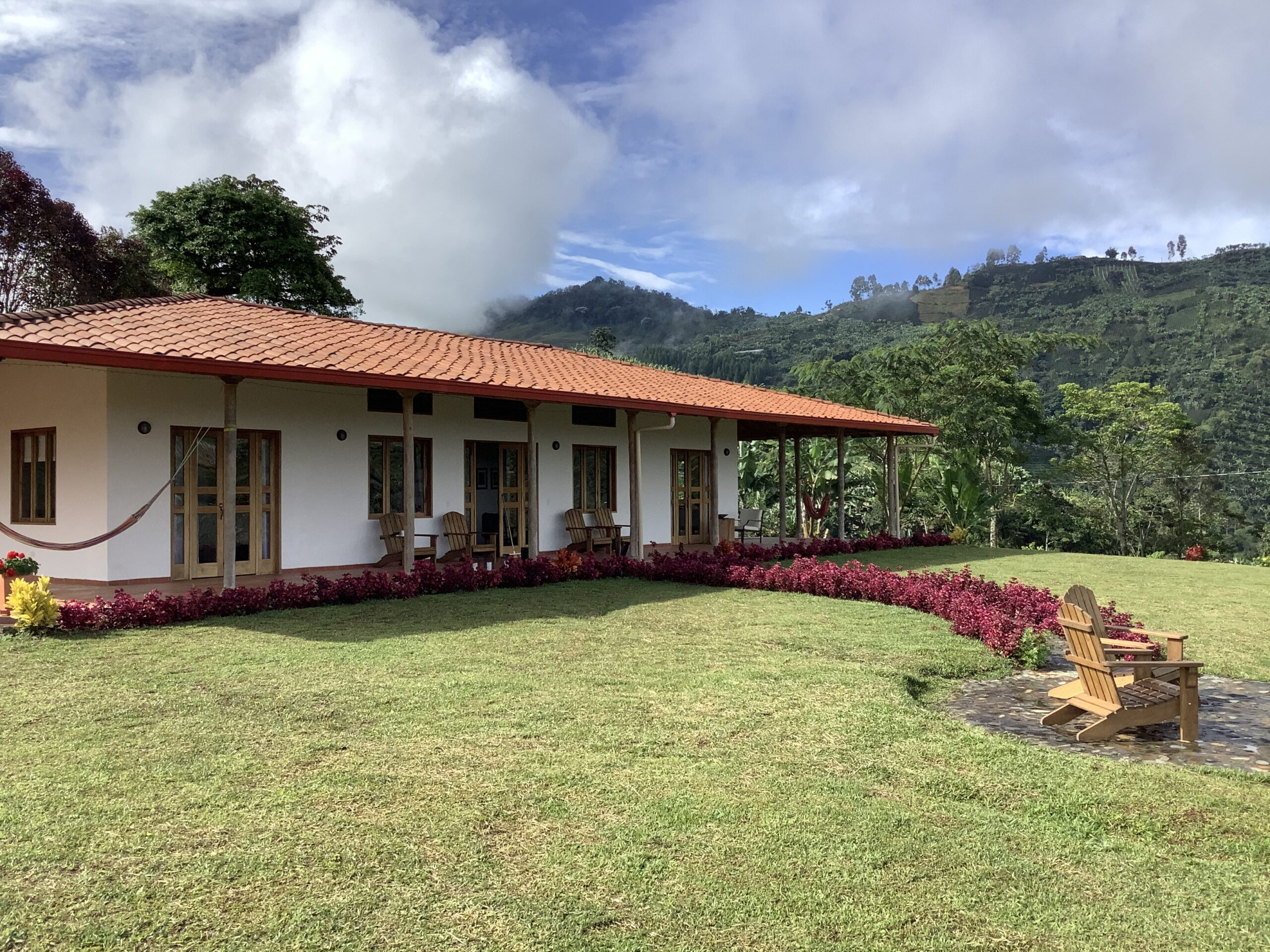The front of Finca Mariposa - guest house for rent