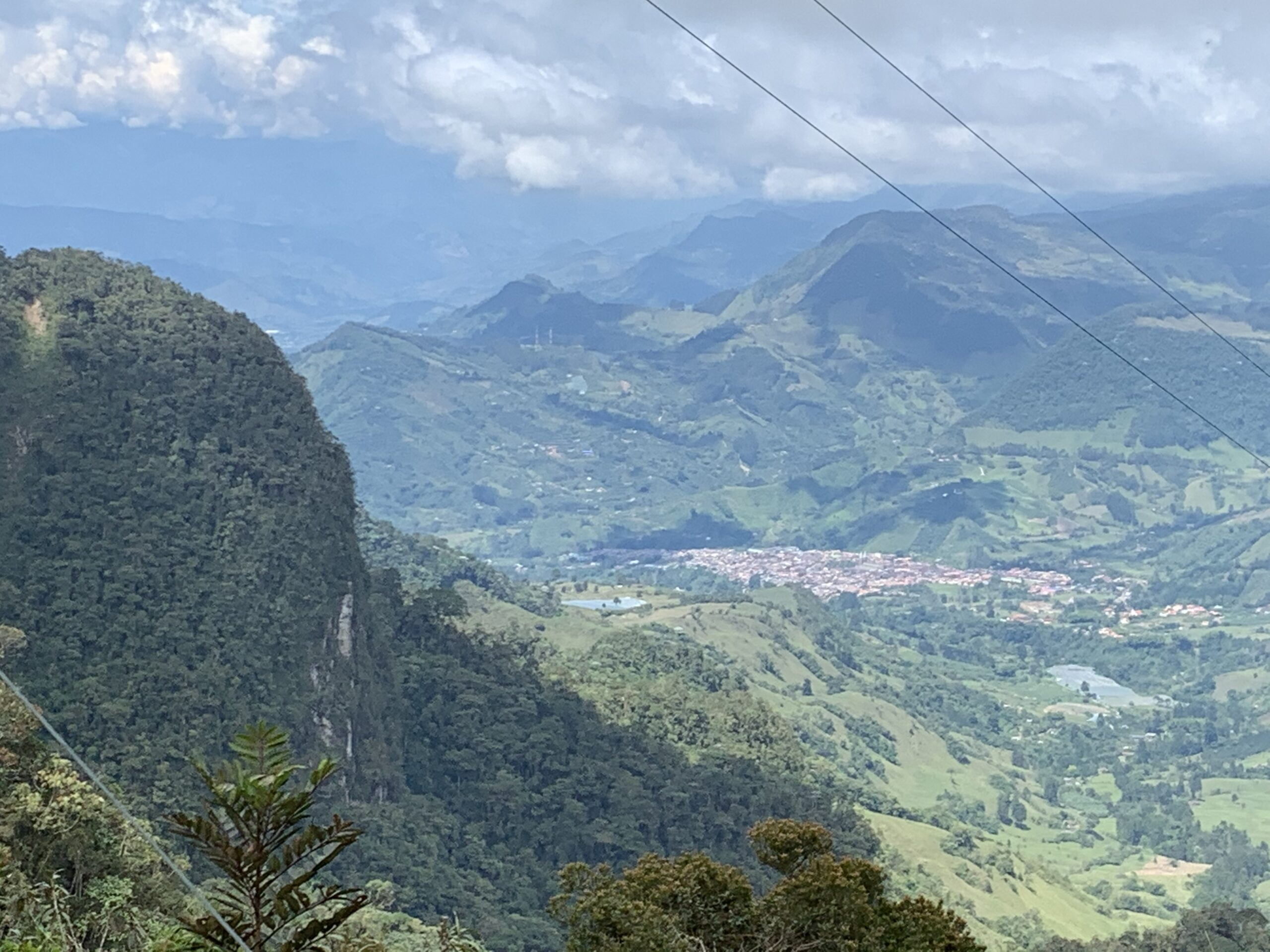 Views of Jardin Antioquia from above the coffee farms